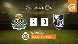 Liga NOS (19ªJ): Resumo Flash Boavista FC 2-0 Vitória SC