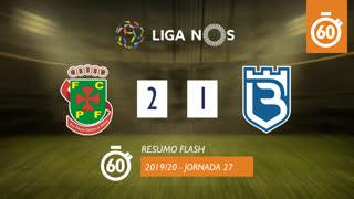 Liga NOS (27ªJ): Resumo Flash FC P.Ferreira 2-1 Belenenses SAD