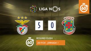 Liga NOS (1ªJ): Resumo Flash SL Benfica 5-0 FC P.Ferreira