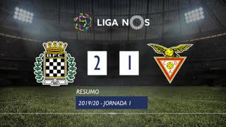 Liga NOS (1ªJ): Resumo Boavista FC 2-1 CD Aves