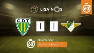 Liga NOS (17ªJ): Resumo Flash CD Tondela 1-1 Moreirense FC