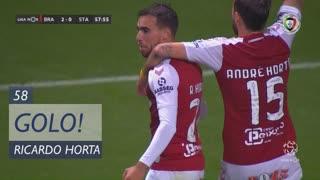 GOLO! SC Braga, Ricardo Horta aos 58', SC Braga 2-0 Santa Clara