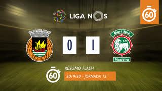 I Liga (15ªJ): Resumo Flash Rio Ave FC 0-1 Marítimo M.