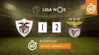 Liga NOS (11ªJ): Resumo Flash Santa Clara 1-2 SL Benfica