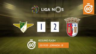Liga NOS (18ªJ): Resumo Flash Moreirense FC 1-2 SC Braga