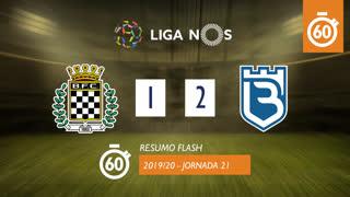 Liga NOS (21ªJ): Resumo Flash Boavista FC 1-2 Belenenses SAD