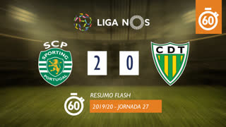 Liga NOS (27ªJ): Resumo Flash Sporting CP 2-0 CD Tondela