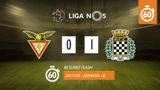 Liga NOS (18ªJ): Resumo Flash CD Aves 0-1 Boavista FC
