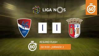 Liga NOS (3ªJ): Resumo Flash Gil Vicente FC 1-1 SC Braga