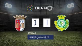 Liga NOS (22ªJ): Resumo SC Braga 3-1 Vitória FC