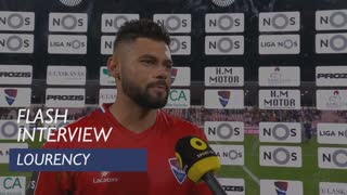 Liga (1ª): Flash Interview Lourency