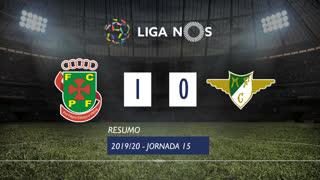 Liga NOS (15ªJ): Resumo FC P.Ferreira 1-0 Moreirense FC