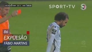 FC Famalicão, Expulsão, Fábio Martins aos 86'