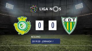Liga NOS (1ªJ): Resumo Vitória FC 0-0 CD Tondela