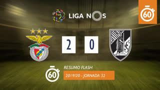 Liga NOS (32ªJ): Resumo Flash SL Benfica 2-0 Vitória SC