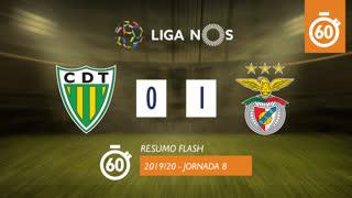 Liga NOS (8ªJ): Resumo Flash CD Tondela 0-1 SL Benfica