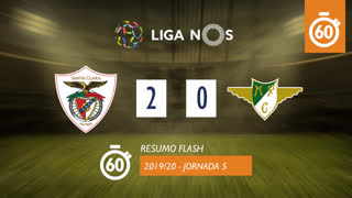 Liga NOS (5ªJ): Resumo Flash Santa Clara 2-0 Moreirense FC