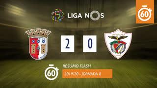 Liga NOS (8ªJ): Resumo Flash SC Braga 2-0 Santa Clara