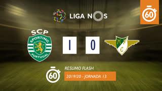 I Liga (13ªJ): Resumo Flash Sporting CP 1-0 Moreirense FC