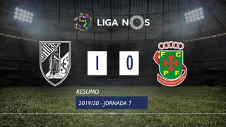 Liga NOS (7ªJ): Resumo Vitória SC 1-0 FC P.Ferreira