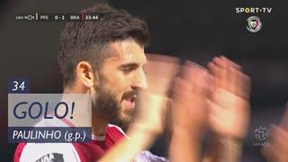 GOLO! SC Braga, Paulinho aos 34', FC P.Ferreira 0-2 SC Braga