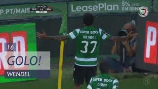 GOLO! Sporting CP, Wendel aos 16', Sporting CP 1-0 SC Braga