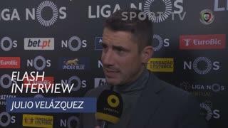 Liga (19ª): Flash Interview Julio Velázquez