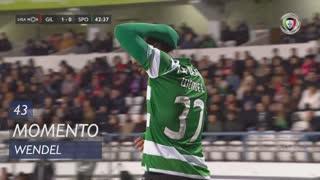 Sporting CP, Jogada, Wendel aos 43'