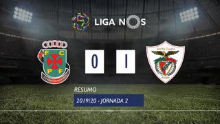 Liga NOS (2ªJ): Resumo FC P.Ferreira 0-1 Santa Clara