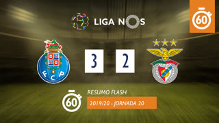 Liga NOS (20ªJ): Resumo Flash FC Porto 3-2 SL Benfica