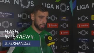 Liga (9ª): Flash Interview Bruno Fernandes