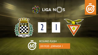 I Liga (1ªJ): Resumo Flash Boavista FC 2-1 CD Aves