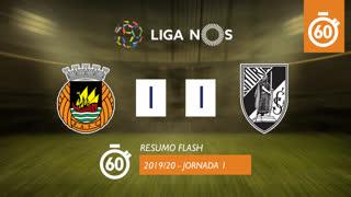 Liga NOS (1ªJ): Resumo Flash Rio Ave FC 1-1 Vitória SC