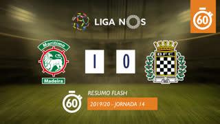 Liga NOS (14ªJ): Resumo Flash Marítimo M. 1-0 Boavista FC