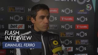 Liga (12ª): Flash Interview Emanuel Ferro