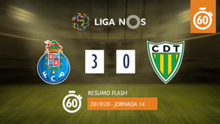 I Liga (14ªJ): Resumo Flash FC Porto 3-0 CD Tondela