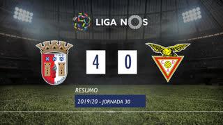 Liga NOS (30ªJ): Resumo SC Braga 4-0 CD Aves