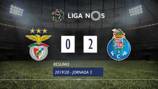 Liga NOS (3ªJ): Resumo SL Benfica 0-2 FC Porto