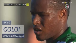 GOLO! Sporting CP, Jovane Cabral aos 45'+2', Belenenses 1-3 Sporting CP