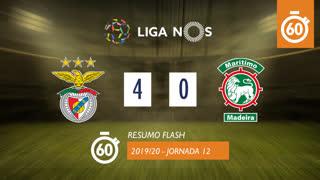 Liga NOS (12ªJ): Resumo Flash SL Benfica 4-0 Marítimo M.