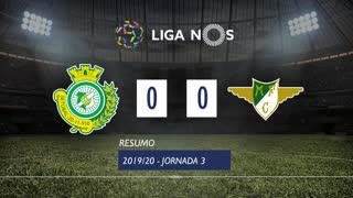 Liga NOS (3ªJ): Resumo Vitória FC 0-0 Moreirense FC