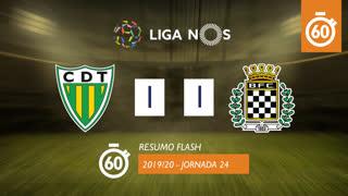 Liga NOS (24ªJ): Resumo Flash CD Tondela 1-1 Boavista FC