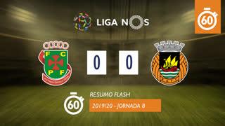 Liga NOS (8ªJ): Resumo Flash FC P.Ferreira 0-0 Rio Ave FC