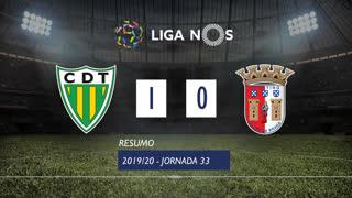 Liga NOS (33ªJ): Resumo CD Tondela 1-0 SC Braga