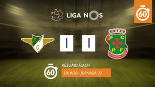 I Liga (32ªJ): Resumo Flash Moreirense FC 1-1 FC P.Ferreira