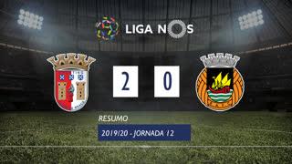 Liga NOS (12ªJ): Resumo SC Braga 2-0 Rio Ave FC