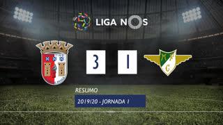 I Liga (1ªJ): Resumo SC Braga 3-1 Moreirense FC