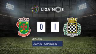 Liga NOS (20ªJ): Resumo FC P.Ferreira 0-1 Boavista FC