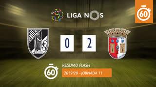 Liga NOS (11ªJ): Resumo Flash Vitória SC 0-2 SC Braga