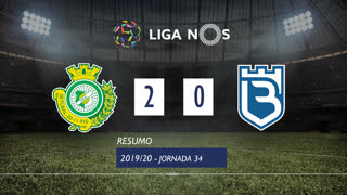 Liga NOS (34ªJ): Resumo Vitória FC 2-0 Belenenses SAD